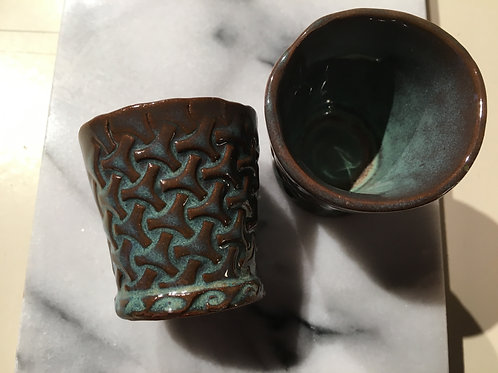 Shot Glass - Turquoise Basket