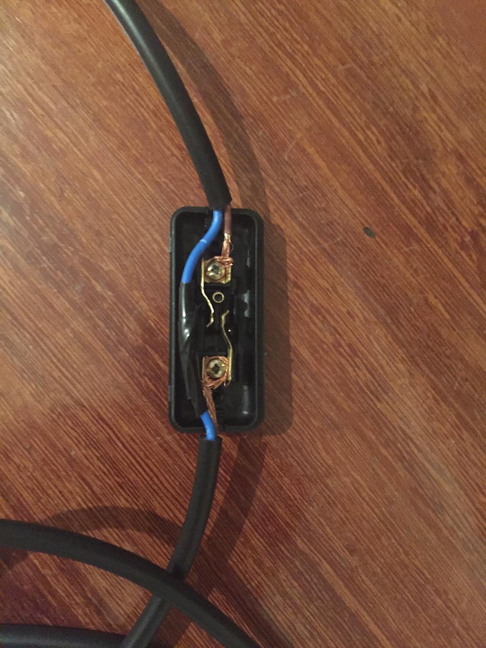 instalação elétrica do interruptor