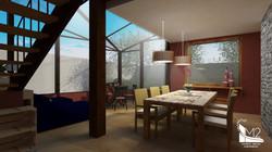Sala de jantar e solarium