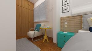 imagem 3D da mesinha no projeto M2 arquitetura
