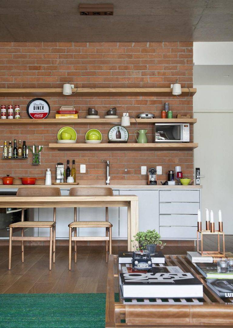 Piso Vinílico na cozinha - Projeto Migs Arquitetura