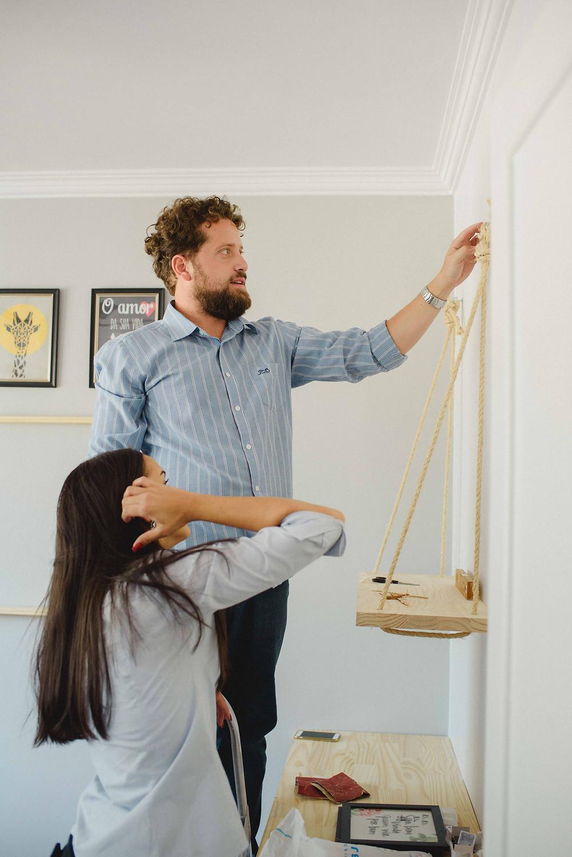 Instalação prateleiras de corda
