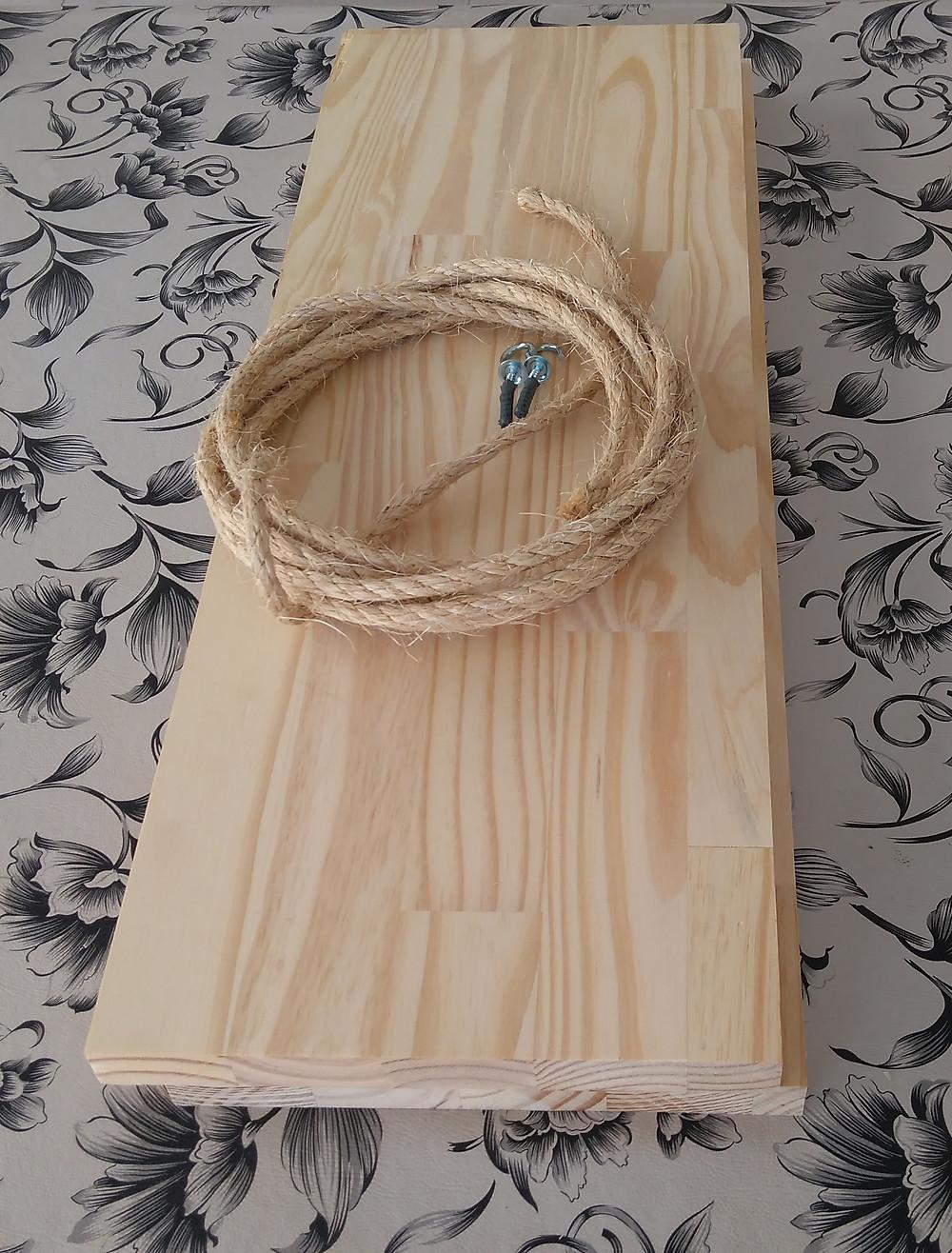 Materiais para prateleira de cordas D.I.Y.