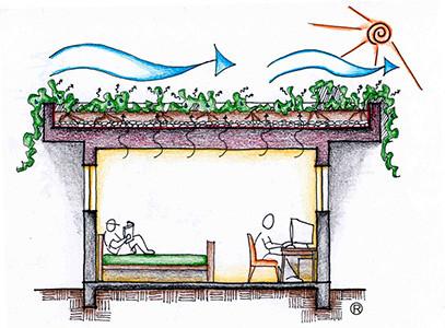 Telhado jardim