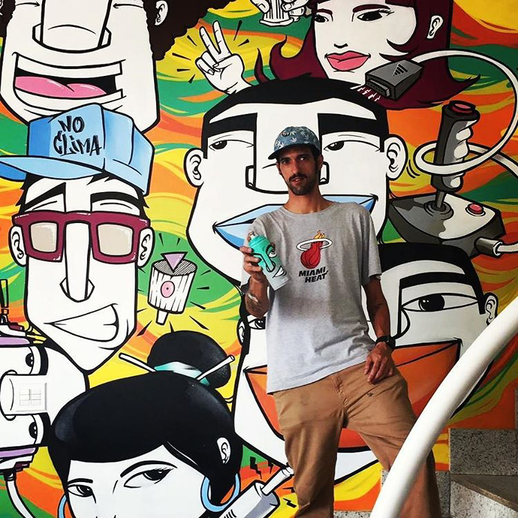 Grafite na sala de trabalho