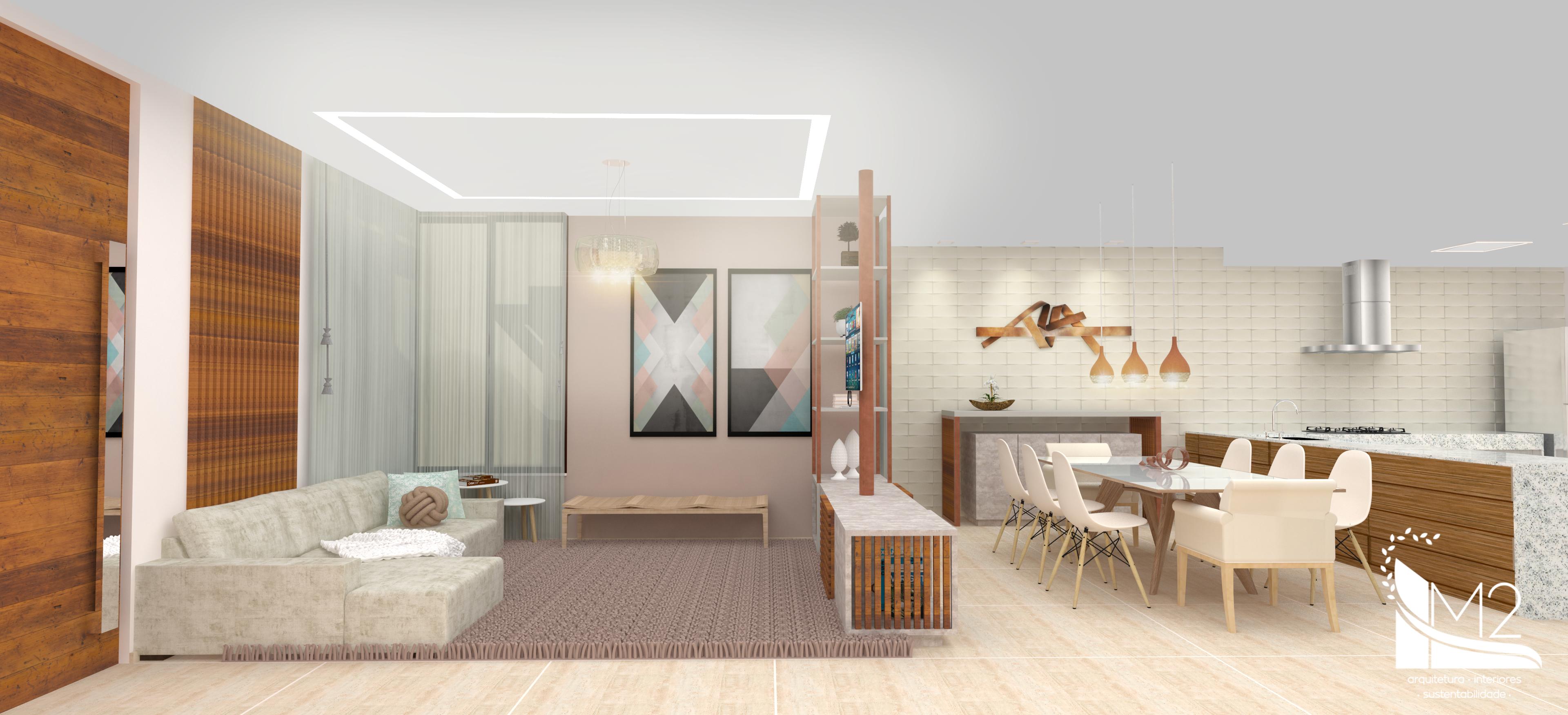 Sala Integrada de estar e jantar