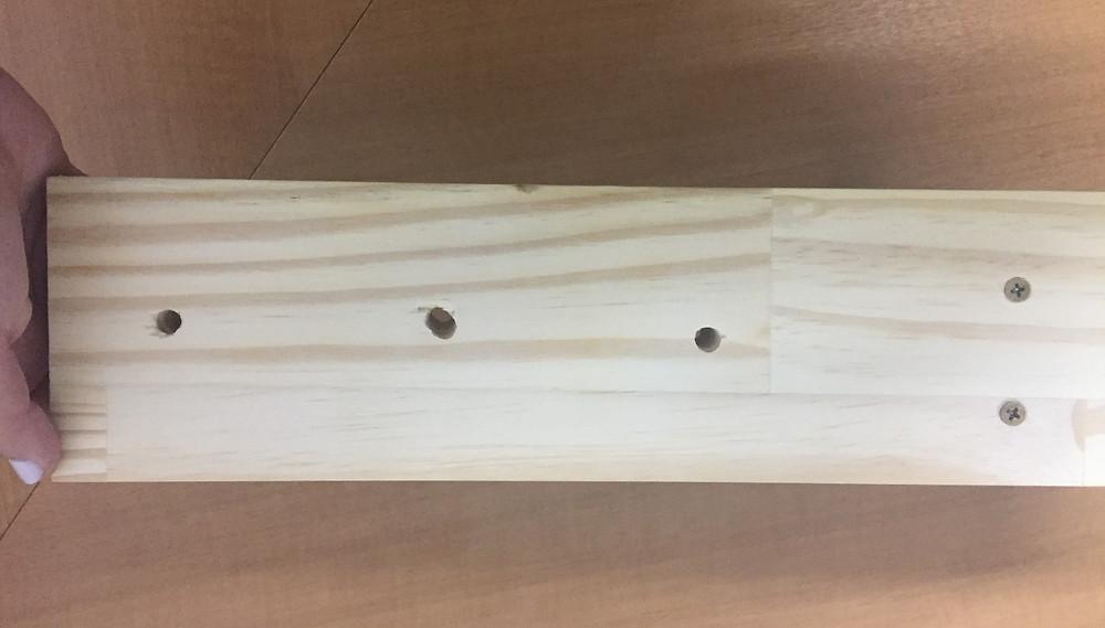 furos feitos na madeira pinus