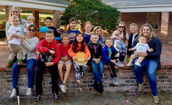 Successful egg hunters and helpers
