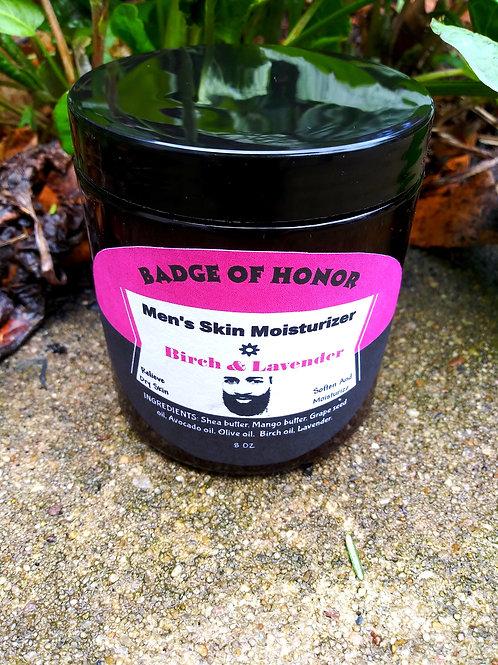 Men's Skin Moisturizer / Birch & Lavender Herbal Skincare