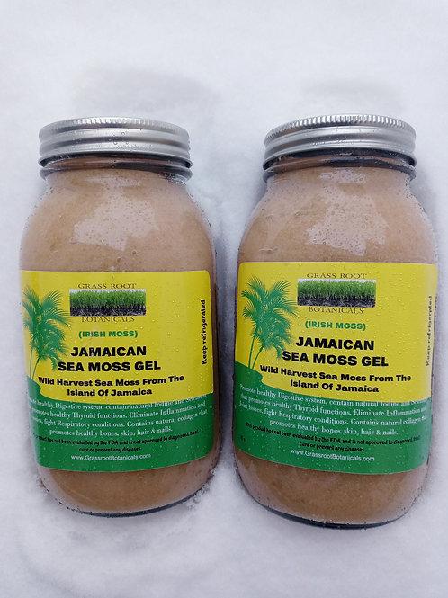 Wild-Harvest Jamaican Sea Moss Gel (Two 32 OZ bottles)