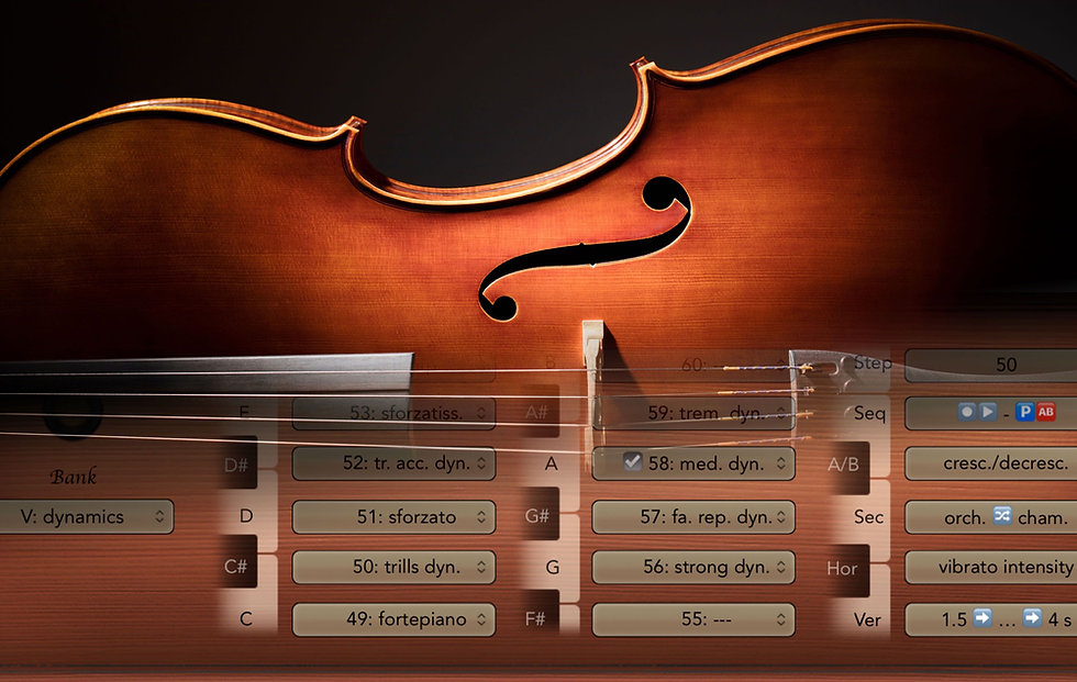 Full overview over the entire Vienna Symphonic Library directly in Logic's main window