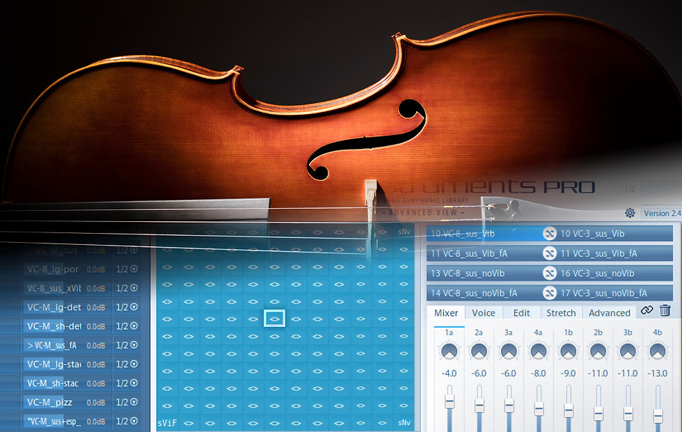 Articulate Preset in Vienna Instruments pro capturing the nuances of an acoustic instrument
