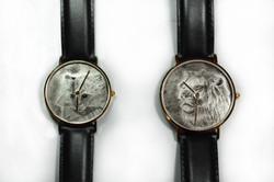 Bulino lion and cat watch dial