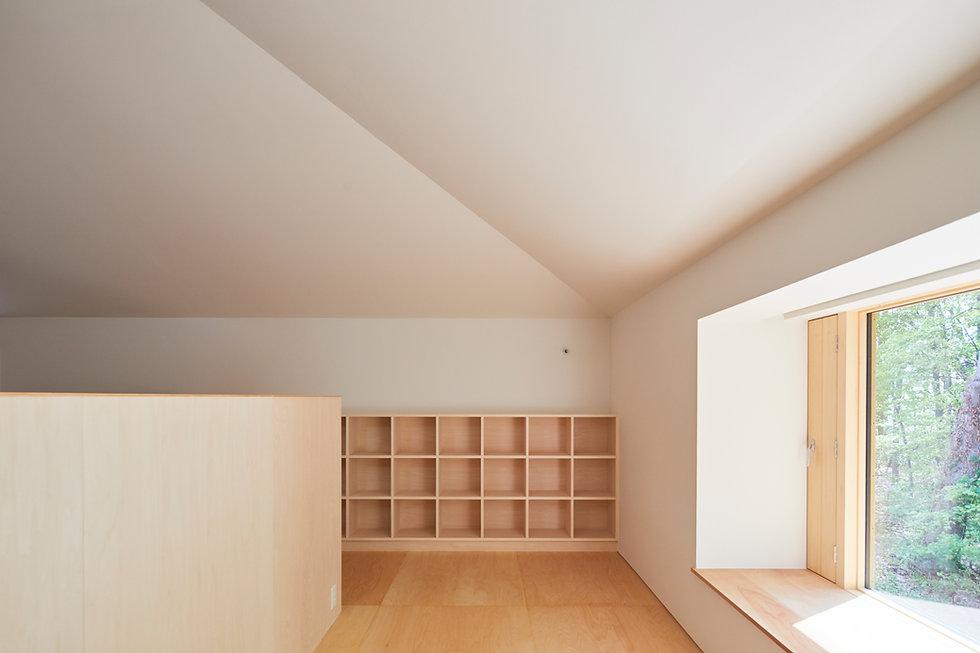 方形屋根の家4