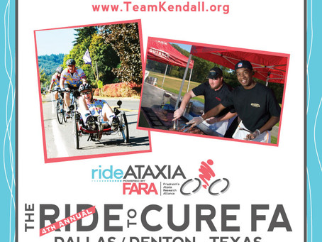 How do I support Team Kendall in Ride Ataxia?