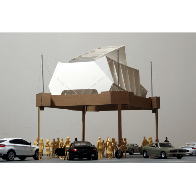 Moveable Structure for a Parking Lot