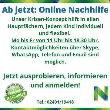 Corona Online Nachhilfe Baesweiler Noten