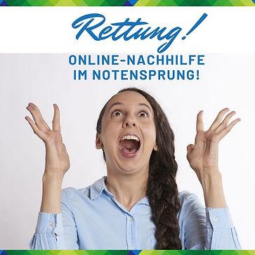 Rettung Online Nachhilfe NOtensprung Bae