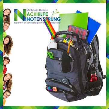 Ein Rucksack voller Schule; Nachhilfe No