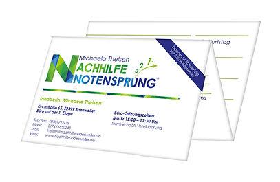 Die 10er-Karte der Nachhilfe Notensprung unverbindlich und günstig in Baesweiler testen