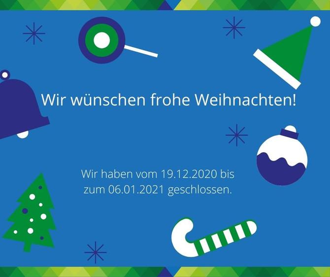 Frohe Weihnachten und einen guten Rutsch ins Jahr 2021