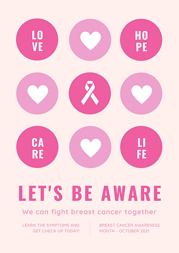 Pink Round Icons Breast Cancer Awareness Poster.png