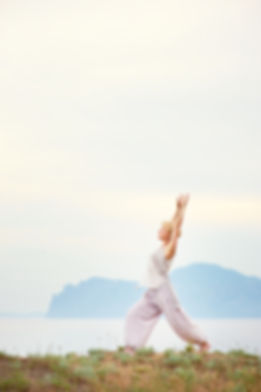 Healthy mature woman doing yoga; women's health; healthy mature woman