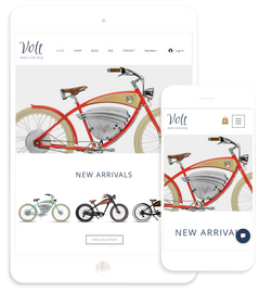 Electric Bike Products - Website Design