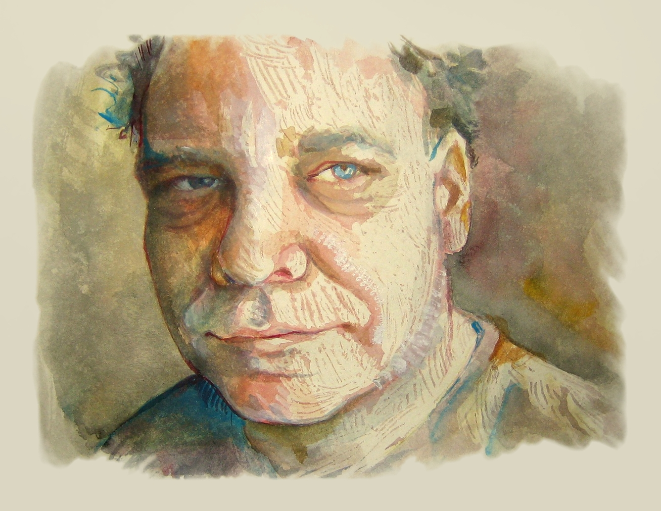 Portrait of Peter. Watercolour, A4