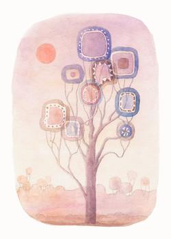 Eucalyptus dream. Watercolour, A4