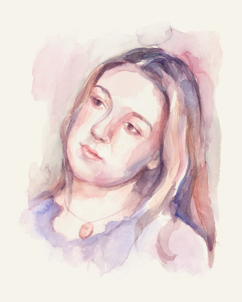 Portrait of Krysia. Watercolour