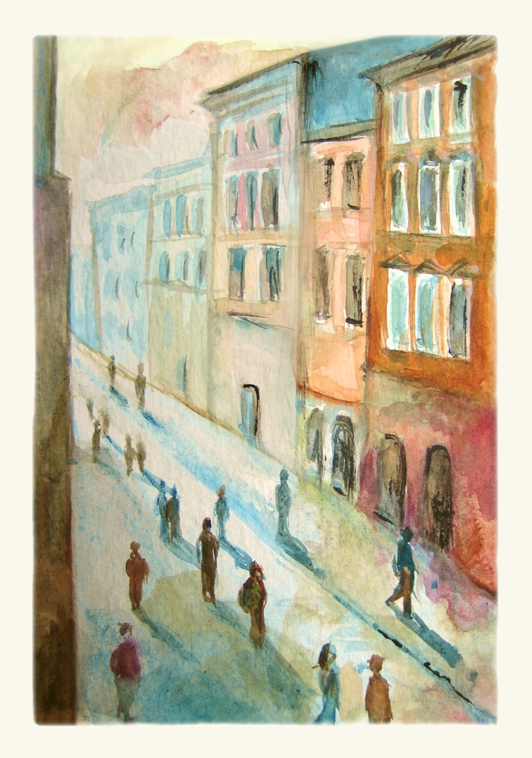 Florianska Street. Watercolour