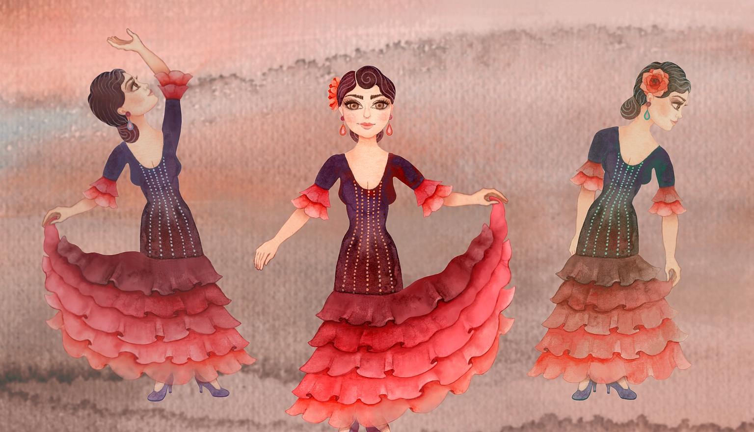 Visual of flamenco dancers