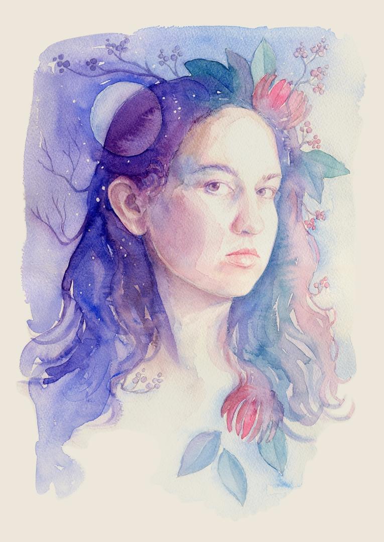 Nature goddess selfportrait