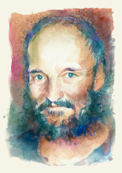 Portrait of Marek. Watercolour, A4