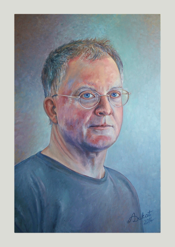 Portrait of Chris. Oil on wood