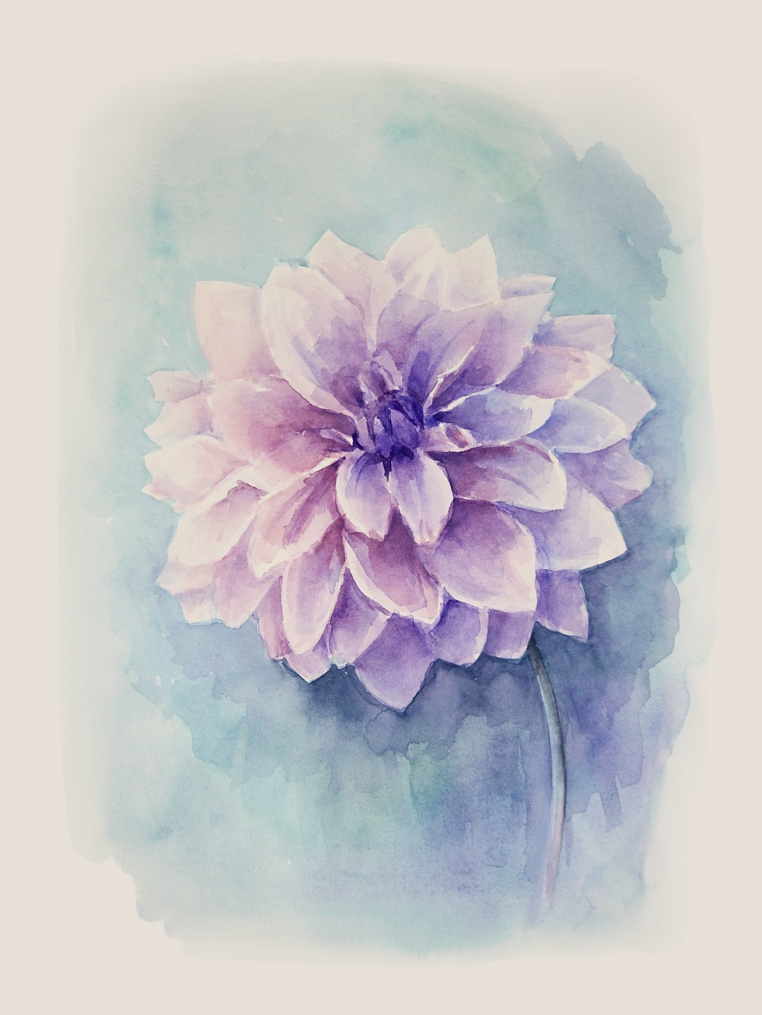 Flower. Watercolour, A3