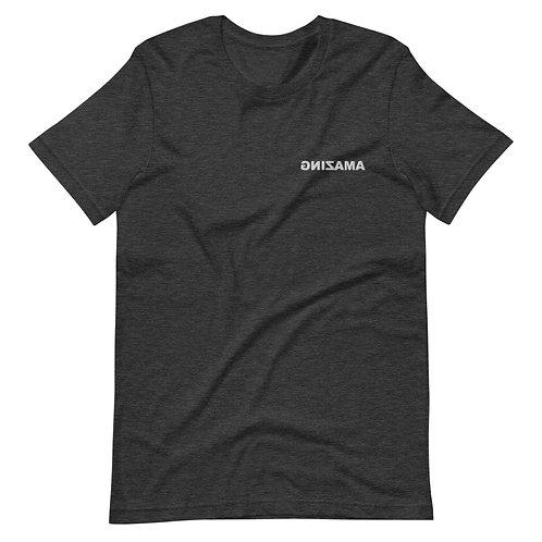Embroidered Short-Sleeve Unisex T-Shirt (AMAZING in White)