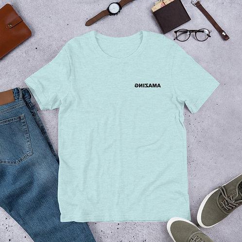 Short-Sleeve Unisex T-Shirt Embroidered (AMAZING Black)