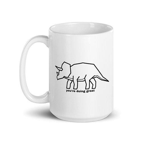 White Mug (You're Doing Great Dinosaur)