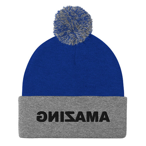 Pom-Pom Beanie (AMAZING in Black)