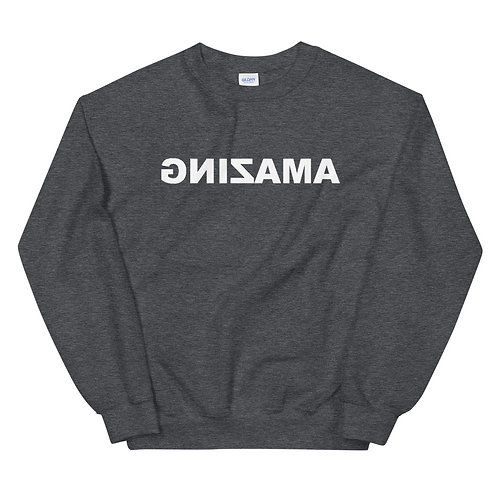 Unisex Crewneck Sweatshirt (AMAZING in White)