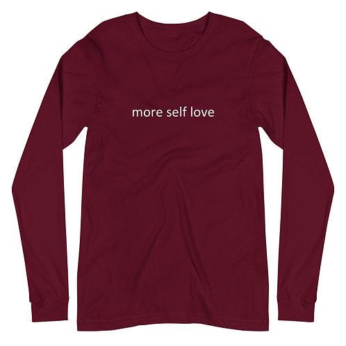 Unisex Long Sleeve Tee (More Self Love)