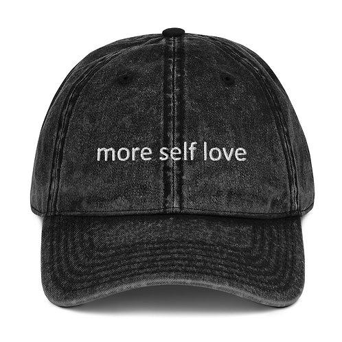 Vintage Cotton Twill Cap (More Self Love)