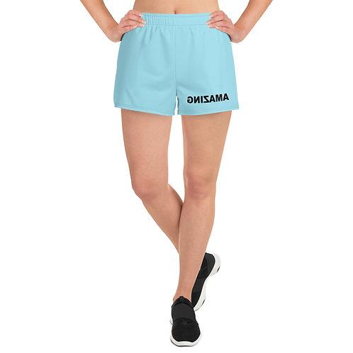 Light Blue Women's Athletic Short Shorts (AMAZING Black)