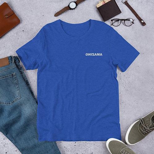 Short-Sleeve Unisex T-Shirt Embroidered (AMAZING White)