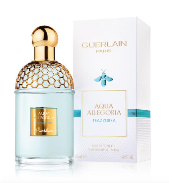 Prix de vente boutiques Guerlain : Aqua Allegoria, Teazzurra, Eau de Toilette : Vaporisateur 75 ml : 62€ - Vaporisateur 125 ml : 85€