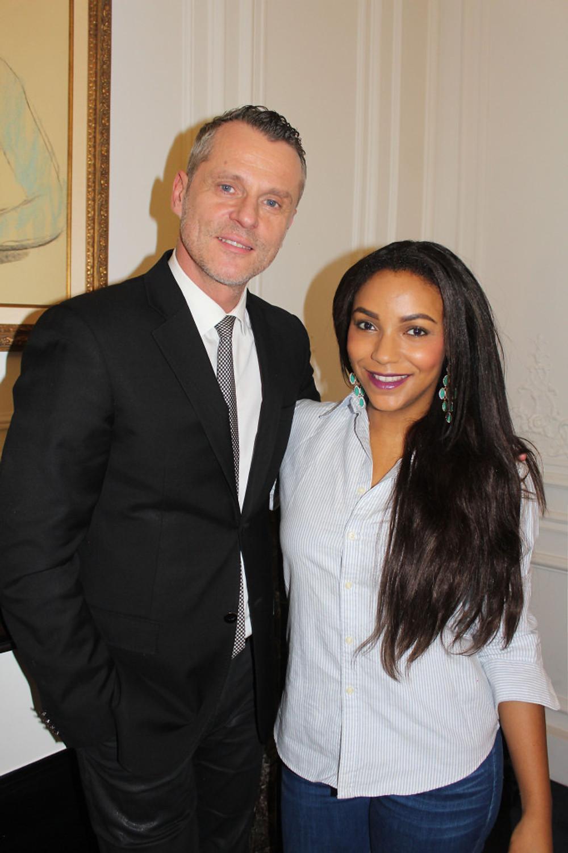 Avec Patrick Lorentz : Senior Make Up Artist de Estée Lauder.