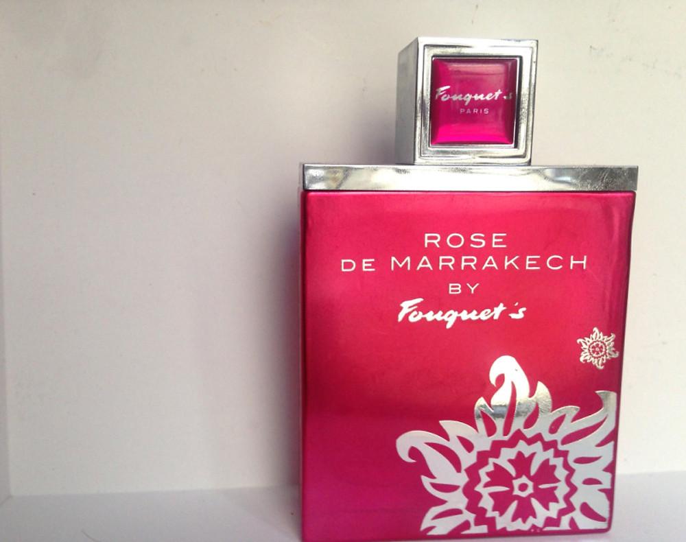 """""""Rose de Marrakech"""" (baies roses, fruits rouges, vanille, essence de rose). Prix : 56€ les 50 ml"""