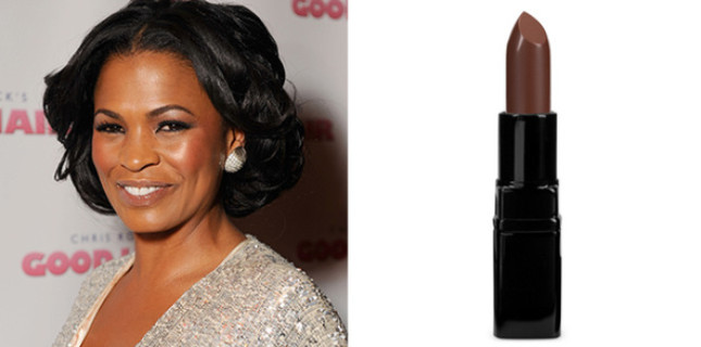 Inglot Lipstick in 270 Cream ($13): Like Nia Long, Try out a shade that will make your lips look sumptuous and naturally nude.